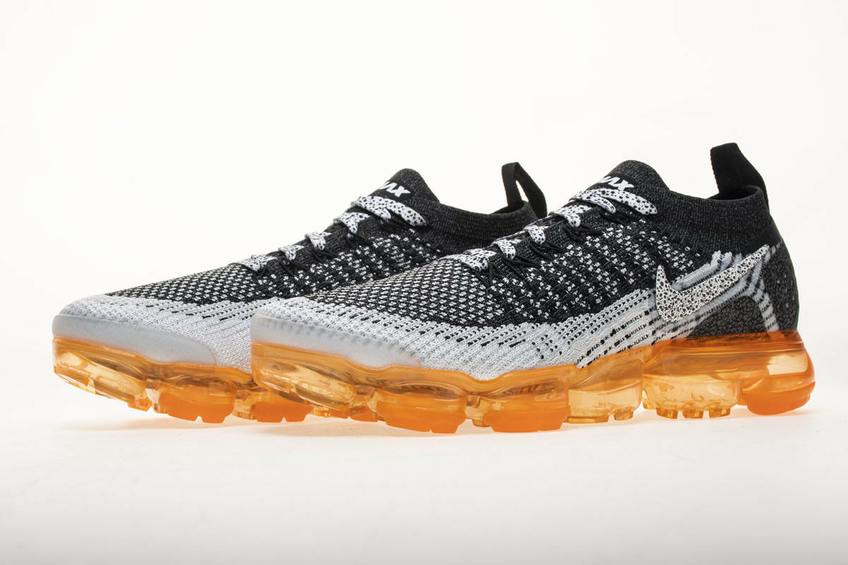 NEW Nike Air VaporMax 2 Flyknit - Black White Grey MANGO - EU40-45 942842-106