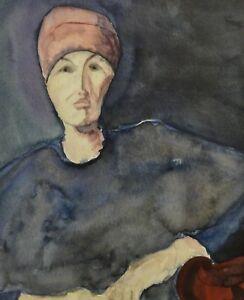 BUNDELUNG-DER-LETZTEN-KRAFT-Aquarell-von-Barbara-Wiese-nach-Xenia-Hausner