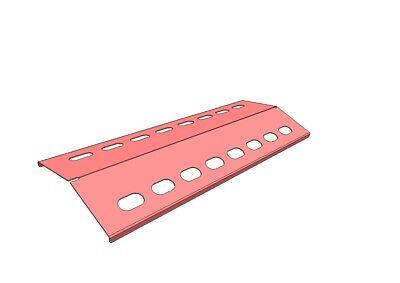 FäHig ⭐️⭐️⭐️⭐️⭐ 39,5x15 Edelstahl Fettabtropfblech Brenner Grillblech Flammenverteiler Unterscheidungskraft FüR Seine Traditionellen Eigenschaften