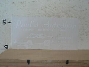 STICKER-DECAL-PORSCHE-PAUL-039-S-AUTOSHOP-GRAFENAU-ZUBEHOR-ERSATZTEILE-TUNING-PORSC