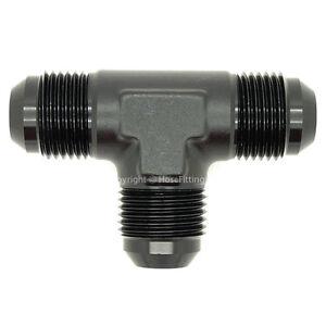 AN-6-BLACK-9-16x18-UNF-JIC-MALE-T-PIECE-Fuel-Oil-Hose-Fitting-Adapter-MMM
