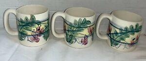 Gail Pittman MAYPOP Coffee Mug Coffee Tea Cup Southern Living at Home Set of 3