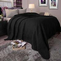 Somerset Home Solid Color Bed Quilt, Full/queen, Black W