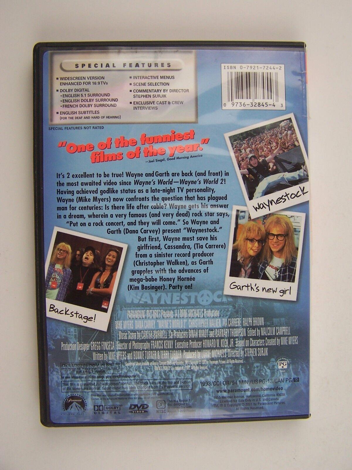 Wayne's World 2 DVD Mike Myers Dana Carvey Tia Carrere