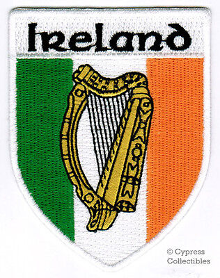 IRELAND IRISH iron-on PATCH COAT OF ARMS EMBLEM HARP embroidered EIRE CELTIC new