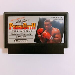 PUNCH-OUT-Mike-Tyson-039-s-Nintendo-Famicom-FC-NES-Japan-game-Tested-Working