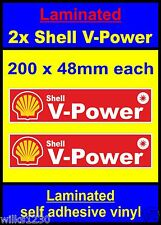 Laminated R 2x Shell V-Power Racing Motorcycle car decals van truck slot sticker
