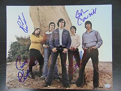"""Self-Conscious """"the Cowsills"""" Group Signed 11x14 Color Photo Authenticated Entertainment Memorabilia"""