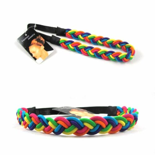 Stirnband Regenbogen Hippie Böhmen Haargummi Haarband Kopfband Zopfgummi