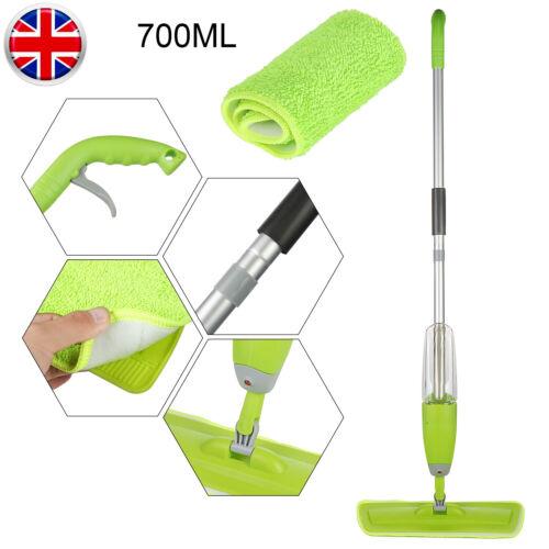 700ml Spray Mop Water Spraying Wooden Floor Cleaner Tiles Microfibre Marble+pads