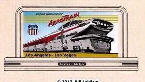 Billboard-UPRR-roadside-sign-Z-scale-Union-Pacific-Railroad-039-s-AeroTrain
