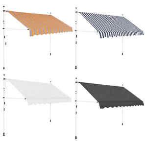 vidaXL-Markise-Einziehbar-Manuell-Klemmmarkise-Sonnenschutz-mehrere-Auswahl