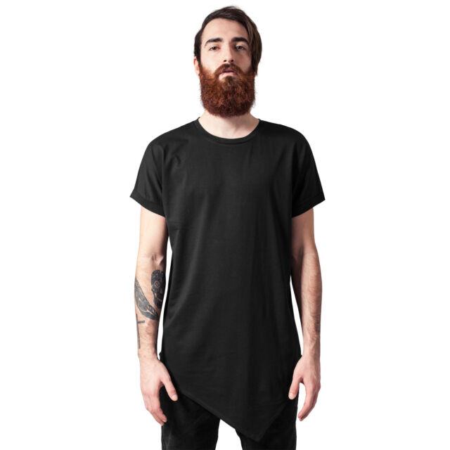 8d5bf3974283 urban Classics Herren T-shirt Asymetric Long M schwarz - 263410   eBay