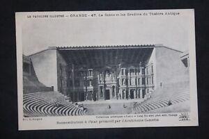 Postcard-Antique-Orange-La-Scene-And-All-Stepped-of-The-Theatre-Antique