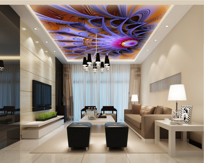3D Gem Lotus 61 Ceiling WallPaper Murals Wall Print Decal Deco AJ WALLPAPER UK