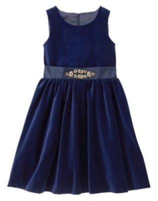 nwt Gymboree girls holiday shine navy blue dress size 6-12 mos