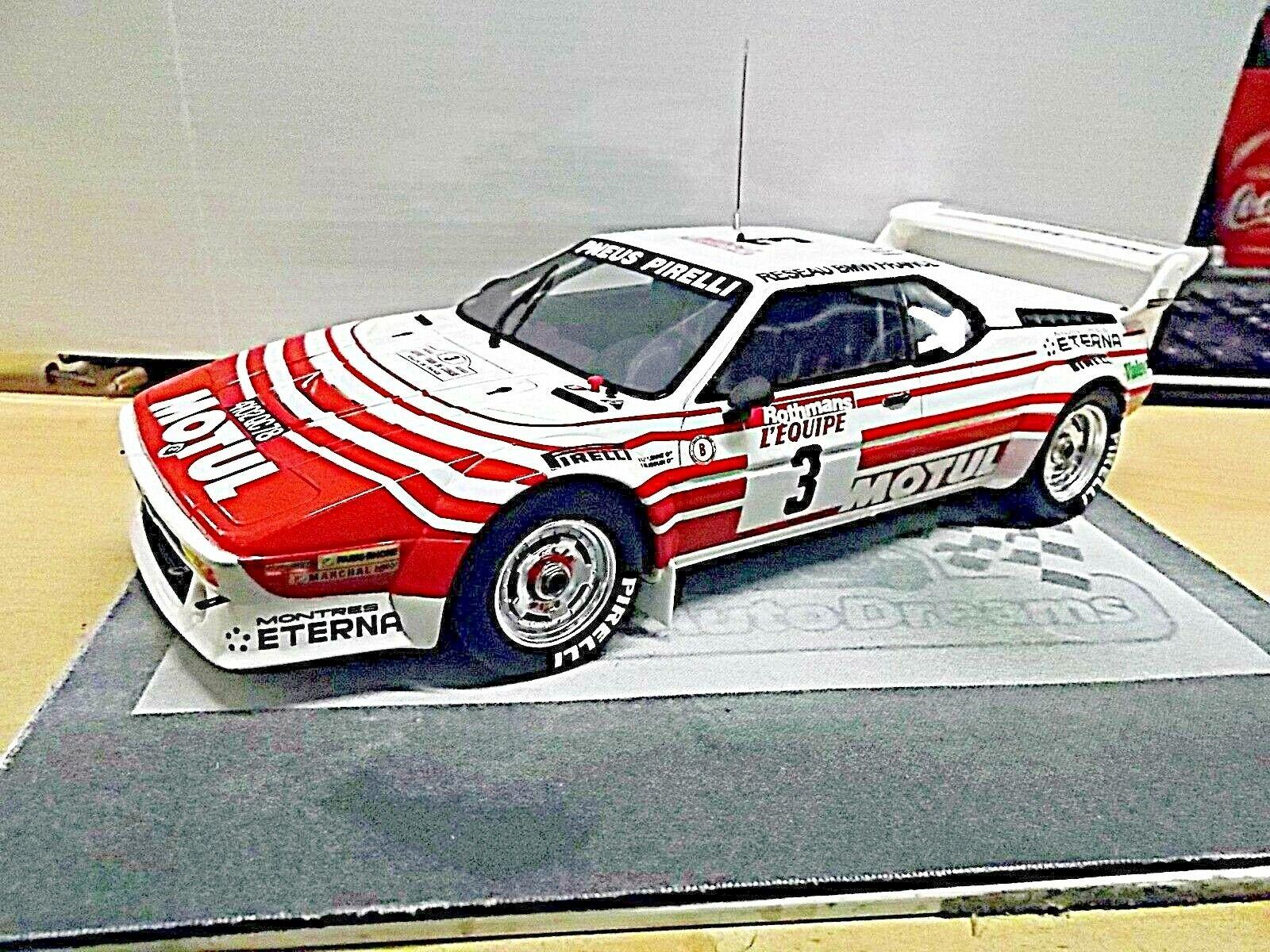 Bmw m1 e26 Rallye Gr. B Tour de Corse Béguin 1983 Motul Resin Otto RAR 1 18