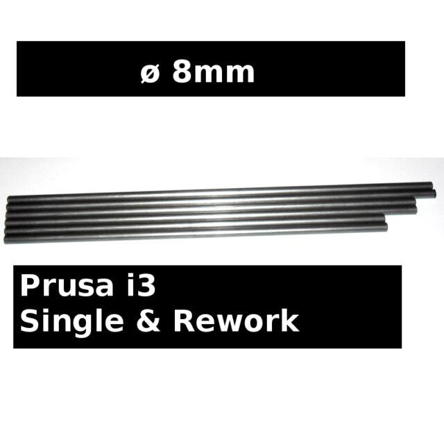 Steel Smooth Rods ø8mm 370mm 350mm 320mm - Prusa i3 SINGLE REWORK RepRap 3D iron