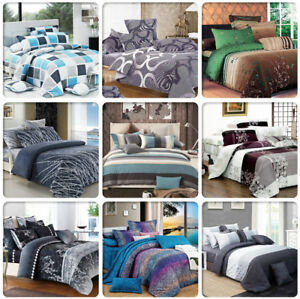 ARTISTIC-Doube-Queen-King-Super-King-Size-Bed-Doona-Duvet-Quilt-Cover-Set-New