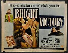 BRIGHT VICTORY 1951 ORIG 22X28 MOVIE POSTER ARTHUR KENNEDY PEGGY DOW JULIE ADAMS