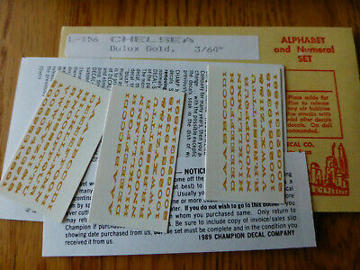 "NOS 3/"" HO or 1 1//2/"" O Dulux Gold Champ HO Decal Set# S-11 Stripes"