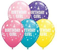 "10 pc 11"" Birthday Girl Print Latex Balloon Tropical Luau Latex Balloon Party"