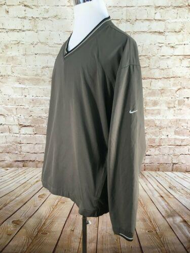 NIKE GOLF MENS Windbreaker~Pullover Zip Pockets Si
