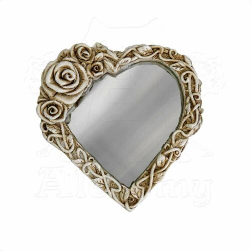 Alchemy Gothic Ghost Of Narcissus Skeleton Skull /& Rose Cream Compact Mirror