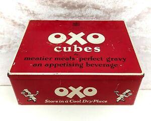 Vintage Oxo Tin-British Food Advertising/Tin Box/Metal Box-24 x 6s- 1950s