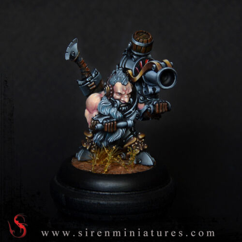 Odins - Fantasy dwarf miniature in 32 mm scale for tabletop and board games