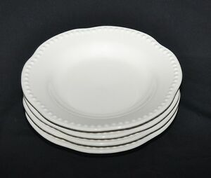 Pottery Barn Set Of 4 Emma White 8 7 8 Quot Salad Plates Made