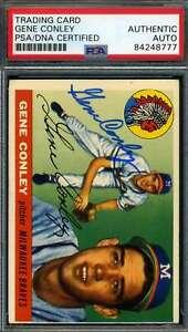 Gene-Conley-PSA-DNA-Coa-Autograph-1955-Topps-Hand-Signed