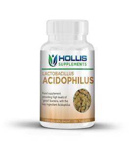 Probiotikum-Acidophilus-120-Tabletten-vier-Monate-Gesundheit-Ergaenzung-150-Milliarden-KBE-g