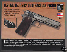 U.S. MODEL 1907 CONTRACT .45 PISTOL (Colt 1905 Variation) Classic Gun PHOTO CARD