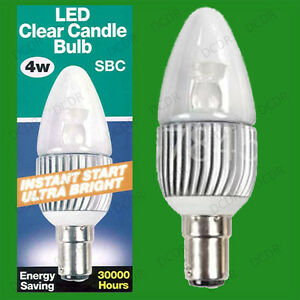 2x-4W-Ultra-Bassa-Energia-Candela-LED-Accensione-Immediata-Lampadina-SBC-B15