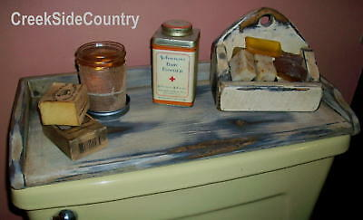 Primitive wood tray Toilet cover tray