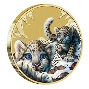 2016-Snow-Leopard-Endangered-Wildlife-Tuvalu-1-One-Dollar-UNC-Coin-Perth-Mint