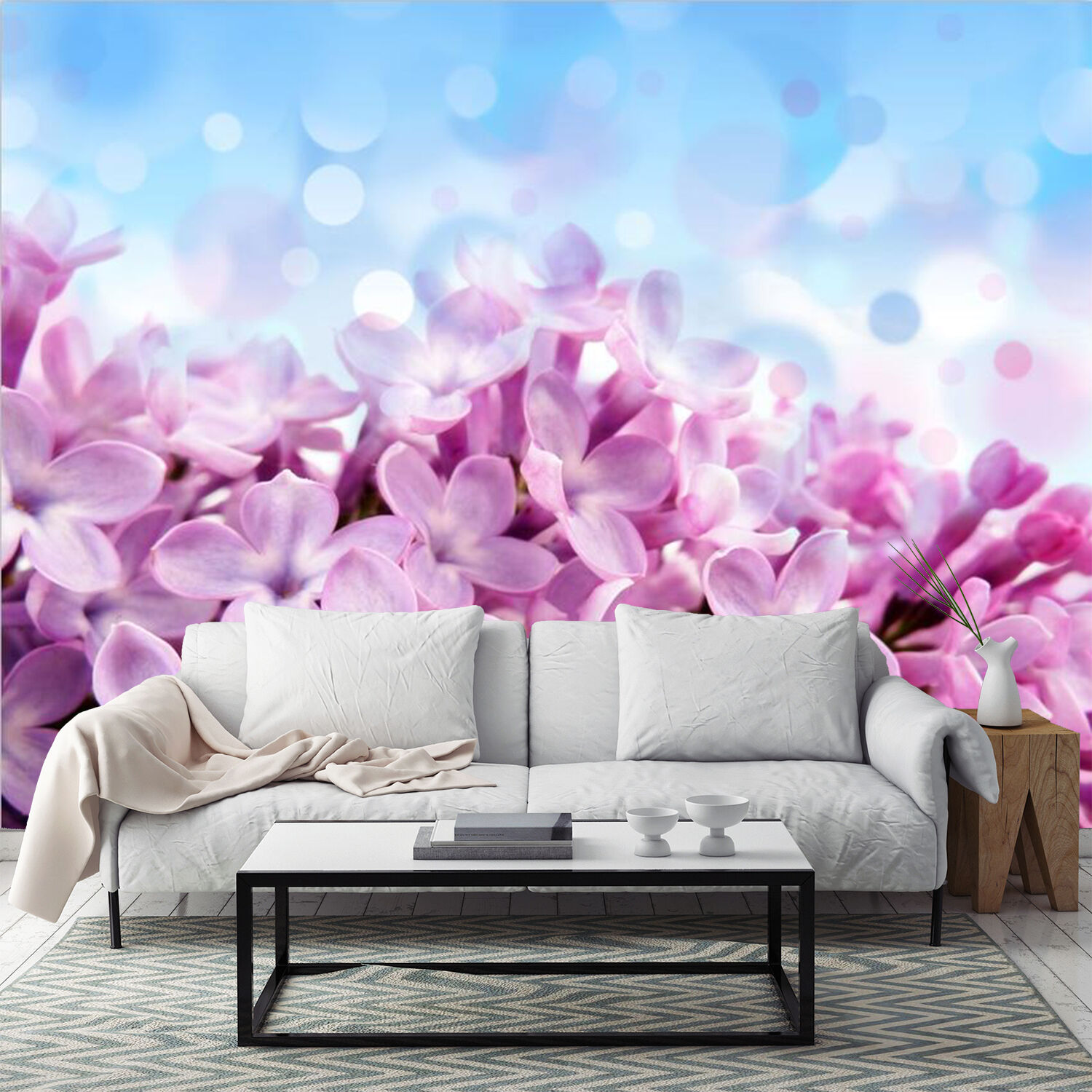 3D Beautiful Romantic Flowers Wall Paper Print Decal Wall Deco Indoor wall Mural