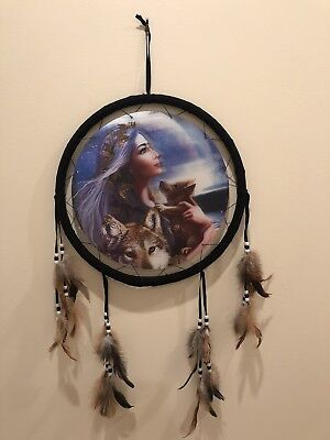3 Howling Wolves Free Shipping Holographic Wolf Dream Catcher