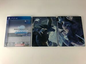 Monster-Hunter-World-Iceborne-Steelbook-Case-W-Slipcover-PS4-NO-GAME-CASE-ONLY