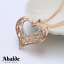 Collar-y-Colgante-Mujer-Corazon-Love-Amor-Oro-Plata-Joya-Moda-Regalo-ideal-Novia miniatura 4