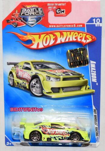 Hot Wheels 2009 Hw Rennsport Amazoom #10//10 Werkseitig Versiegelt