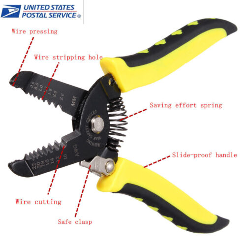 Multifunctional Handle Tool Cable Wire Stripper Stripping Cutter Cutting Pliers
