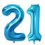 21st-Helium-Foil-Birthday-Anniversary-Balloon-32-034-Or-40-034 thumbnail 3