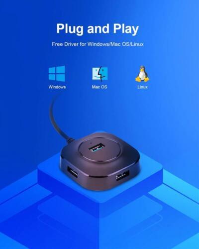 USB Hub 3.0 Multi Splitter 4 Ports Speed Mini Type C Port Expander PC Macbook