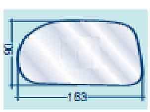 FIAT MAREA VETRO SX CURVO CROMATO PER SPECCHIETTO RETROVISORE COD 700//30127