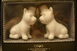 New-Ciroa-Stoneware-Salt-amp-Pepper-Shaker-Set-White
