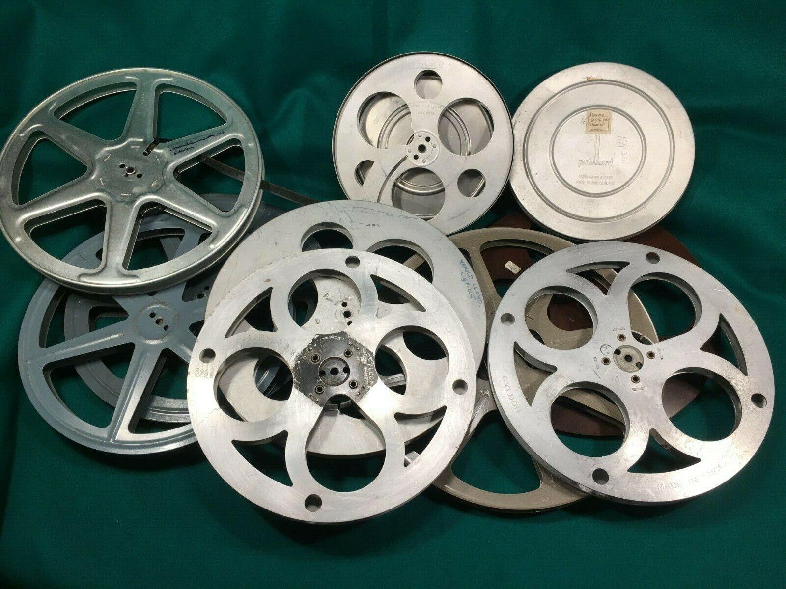 Pathescope Paillard Cyldon Cecol 9.5mm Cine Spool Film Reels 800 Ft Empty Spools