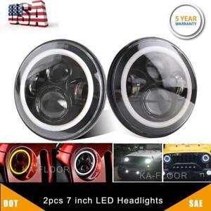 2pcs-DOT-7-034-Inch-Round-LED-Headlight-DRL-Signal-Light-For-Jeep-Wrangler-07-18-JK