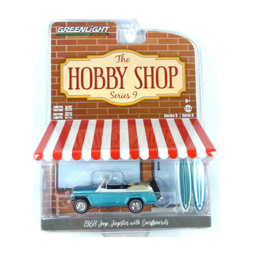 GreenLight 97090-b jeep Jeepster turquesa metálico-the hobby Shop series 1:64 nuevo °